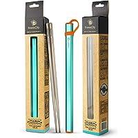 Titanium Chopsticks Extra Strong Ultra Lightweight Professional (Ti), Chopsticks Comes with Free Aluminium Case (Blue)