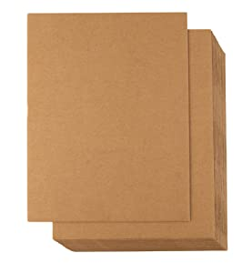 Corrugated Cardboard Sheets - 24-Pack Flat Cardboard Sheets, Cardboard Inserts for Packing, Mailing, Crafts - Kraft Brown, 8.5 x 11 Inches