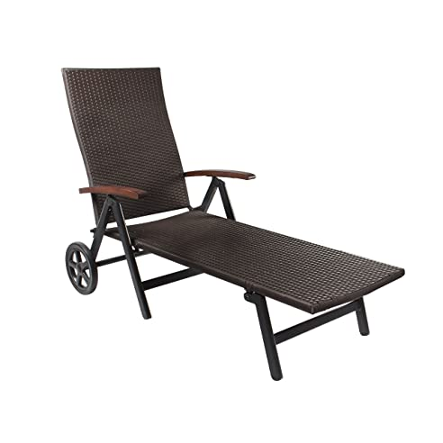 gartenliege rattan mit rollen. Black Bedroom Furniture Sets. Home Design Ideas
