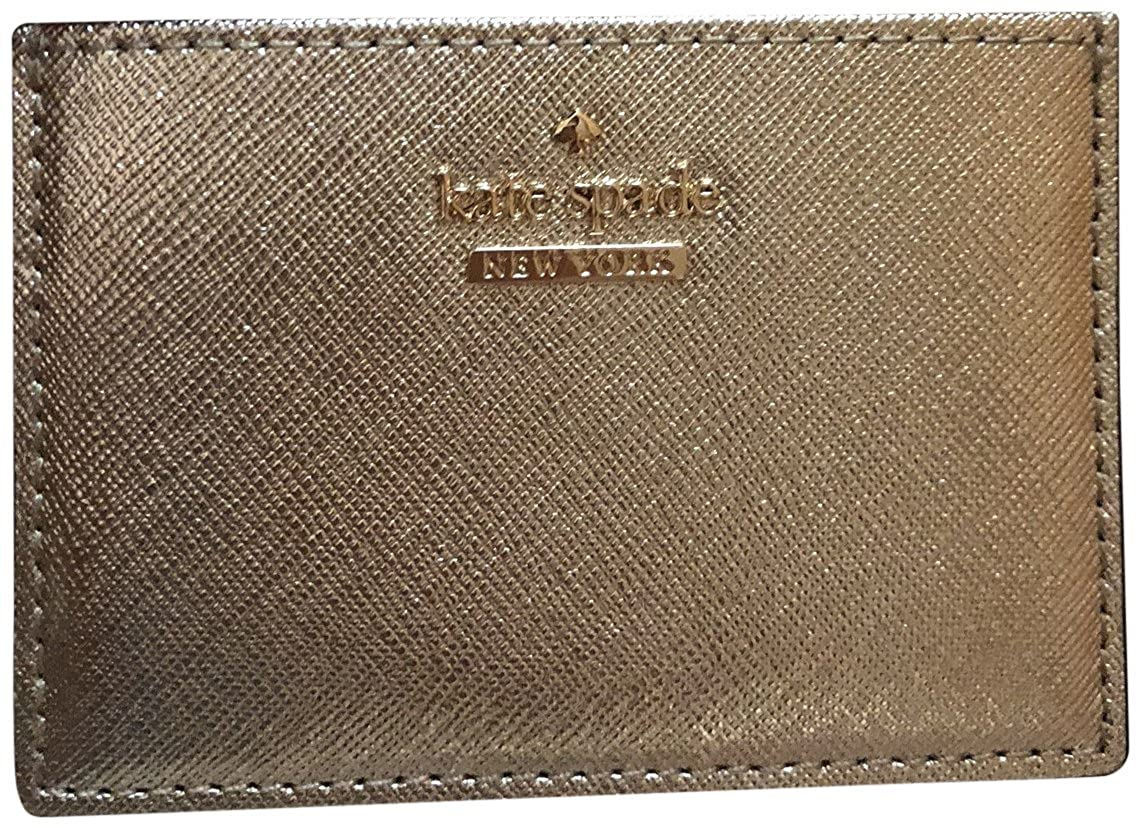 Kate Spade New York Business Credit Card Holder Case Cameron Street Gold