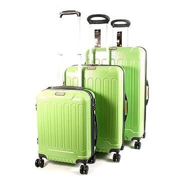 Jeep - Juego de maletas Verde verde Large, Medium, Small: Amazon.es: Equipaje