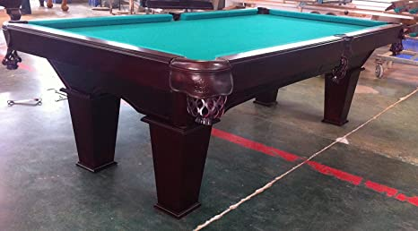 8 pies mesa de billar con madera maciza Pooltunierbillardtisch 3 cm ...