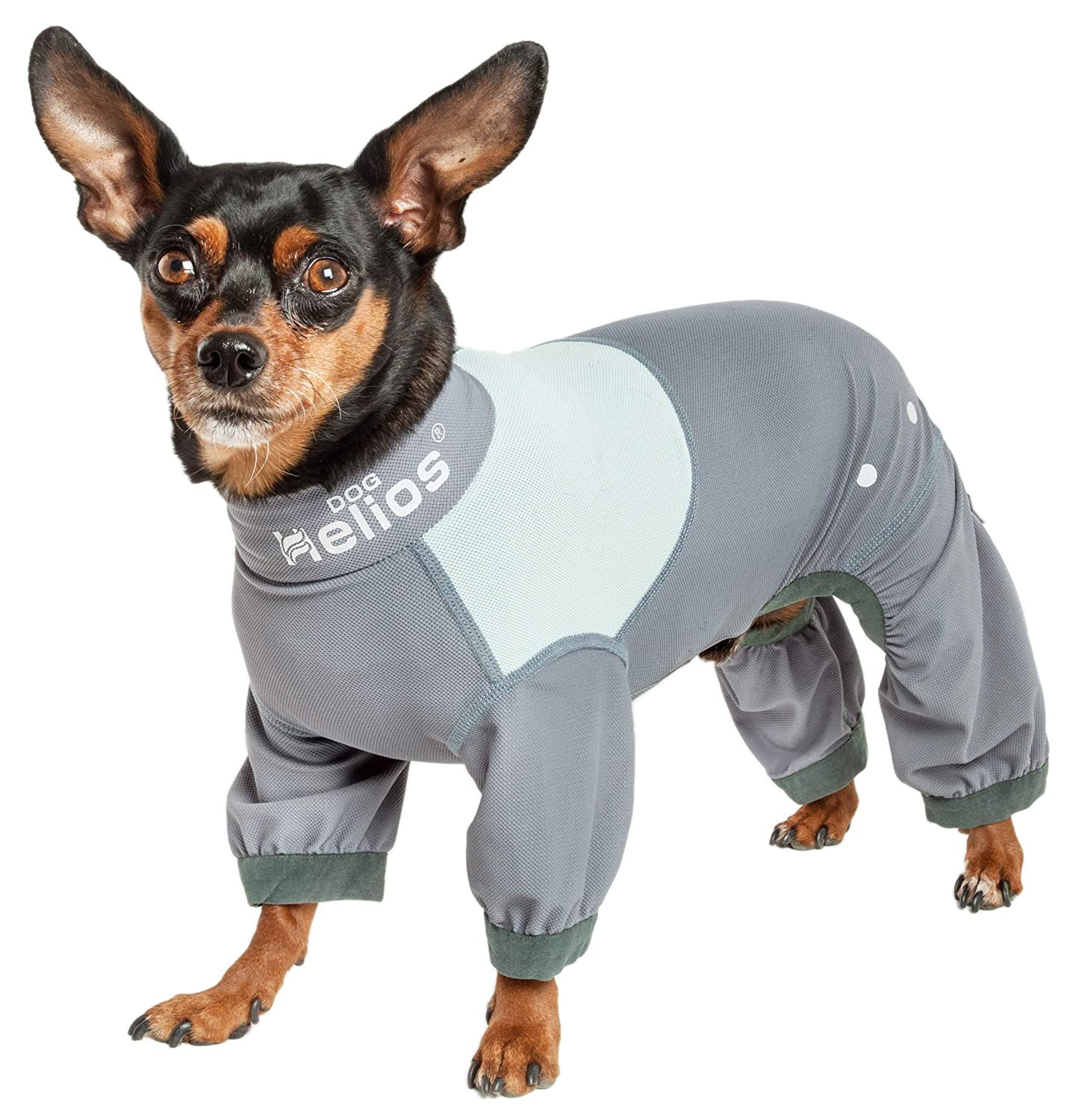Dog Helios Tail Runner' Lightweight 4-Way-Stretch Breathable Full Bodied Performance Dog Track Suit, Large, Grey