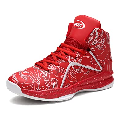 d16ae2e4a4716c weweya Men s Fashion High Top Basketball Shoe Lightweight Breathable  Athletic Running Sports Sneakers
