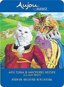 Rawz Aujou Aku Tuna & Mackerel Cat Food 8/2.46 oz Pouches