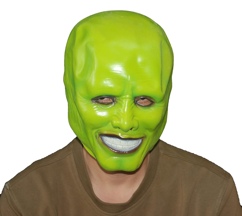 Halloween Costume Green Head Latex Mask Jim Carrey Full Headgear ...