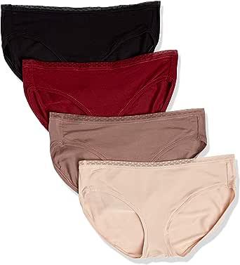 Amazon Essentials Women's 4-Pack Modal Bikini Underwear