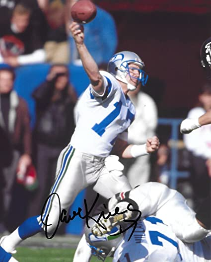 a3bfc6179 Image Unavailable. Image not available for. Color: Dave Krieg, Seattle  Seahawks, Signed, Autographed ...