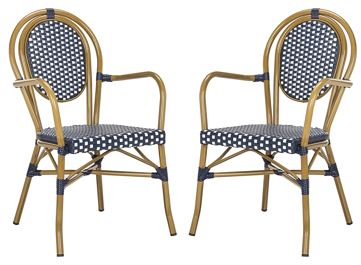 Safavieh Bistro chairs in navy and white