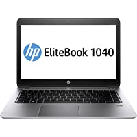 HP EliteBook Folio 1040 (H9W04EA) 35,56 cm (14 Zoll) Business Laptop (Intel Core i7-5600U, 2,6 GHz, 8 GB RAM, 256 GB SSD, Full HD Bildschirm, Touchscreen, WWAN 4G LTE, Windows 8.1 Pro 64) silber