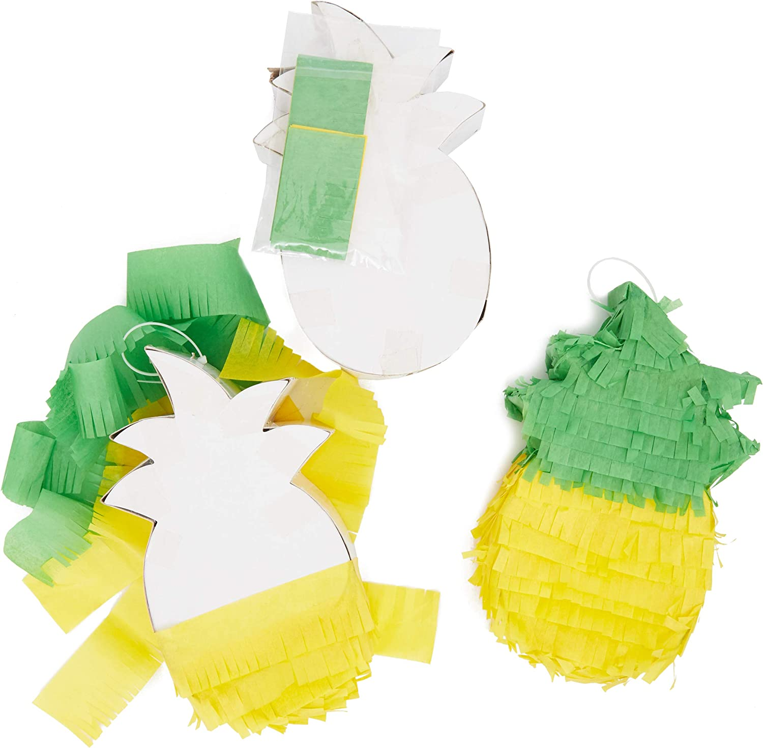 Mini Pineapple DIY Pinata Craft Kit for Birthday Party (7.5 x 4.5 in, 3 Pack)