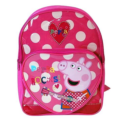 cbe6c0b923 Peppa Pig Character Girls Boys Unisex Kids Children s Rucksack Travel Bag  Backpack School Bag Sports Bag Range (Peppa Rocks Pocket)  Amazon.co.uk   Shoes   ...