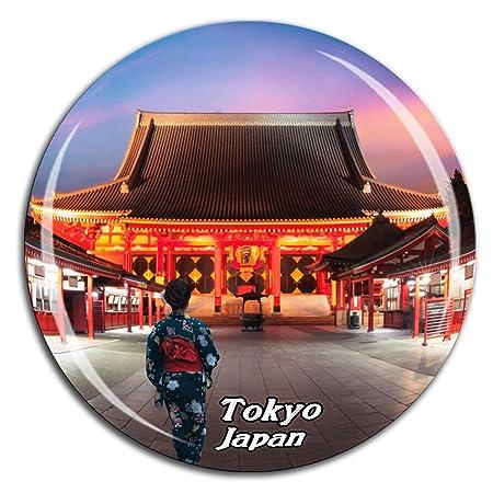 Weekino Sensoji Temple Tokyo Japón Imán de Nevera Cristal 3D ...