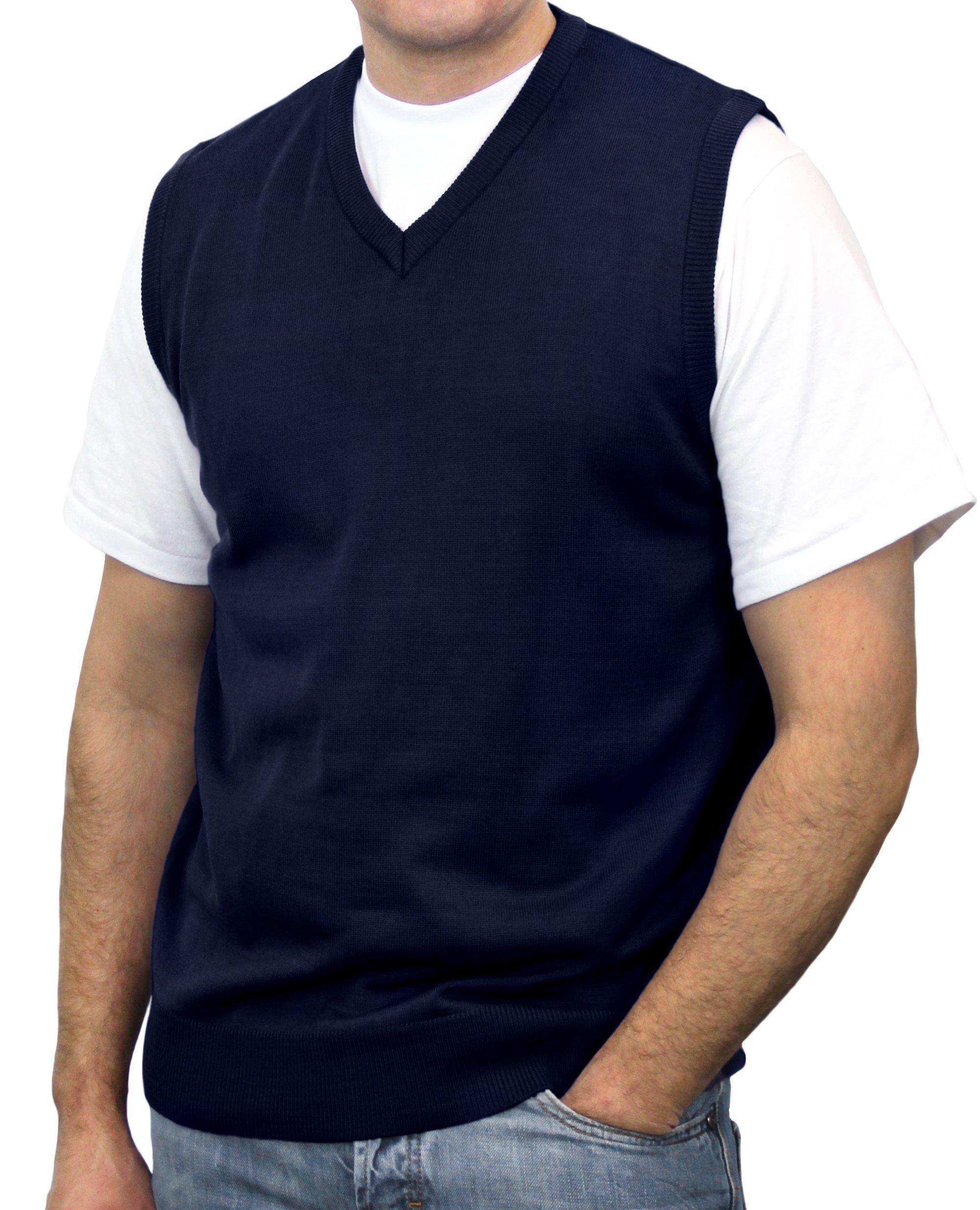 Blue Ocean Big Men Solid Color Sweater Vest-4X-Large