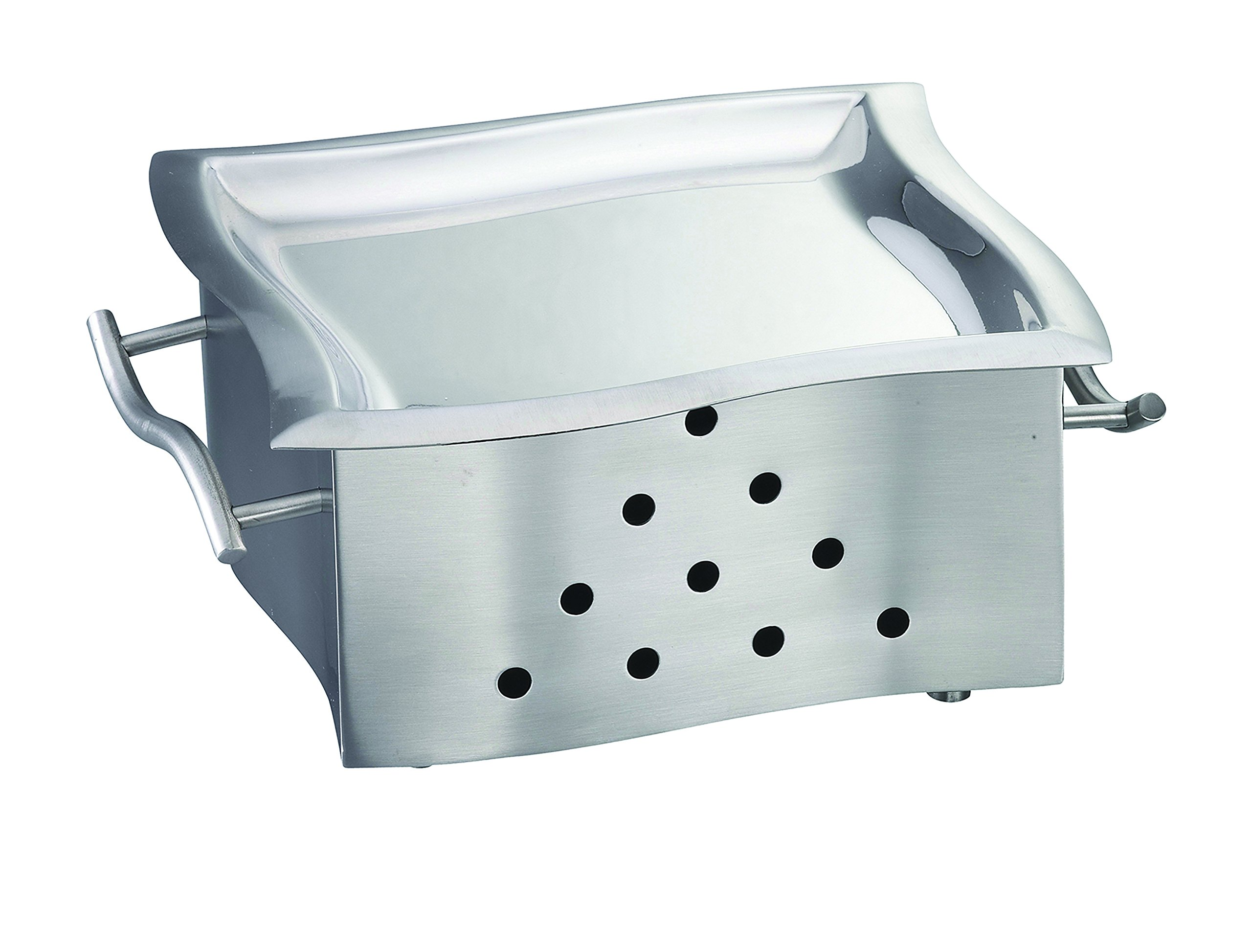 TableCraft Products SW98N Stainless Steel Square Snack Warmer with Platter