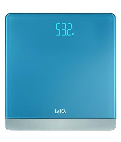 Laica Serie 4 - Bascula electrónica, color azul claro, 180 kg