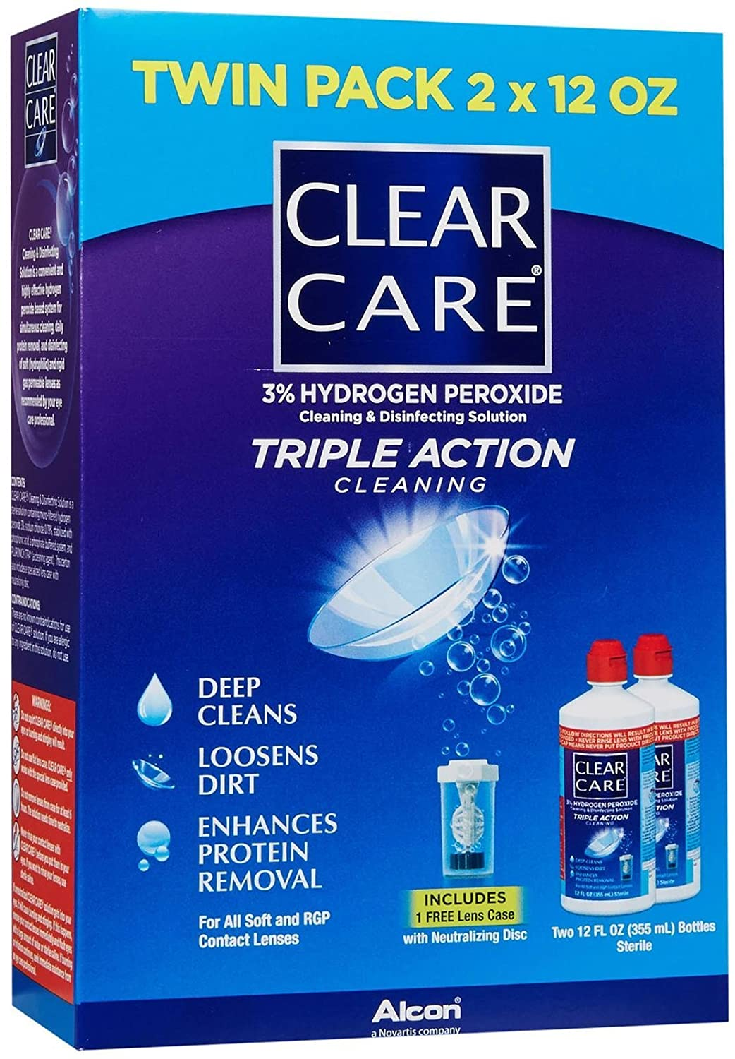 Clear Care No Rub Cleaning & Disinfecting Solution Value Pack 24 Fl Oz (710 Ml) CIBA VISION CORPORATION.