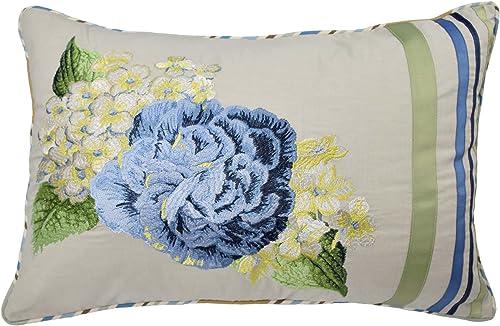 Waverly Floral Flourish Decorative Pillow, 14 x 20 , Porcelain