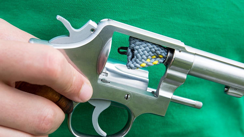 WPW Bore Limpiador Unidad Flash Cuerda Calibre 9 mm para.38 SP.357 Pistola Revólver Unidad de Lavado con Mango: Amazon.es: Deportes y aire libre