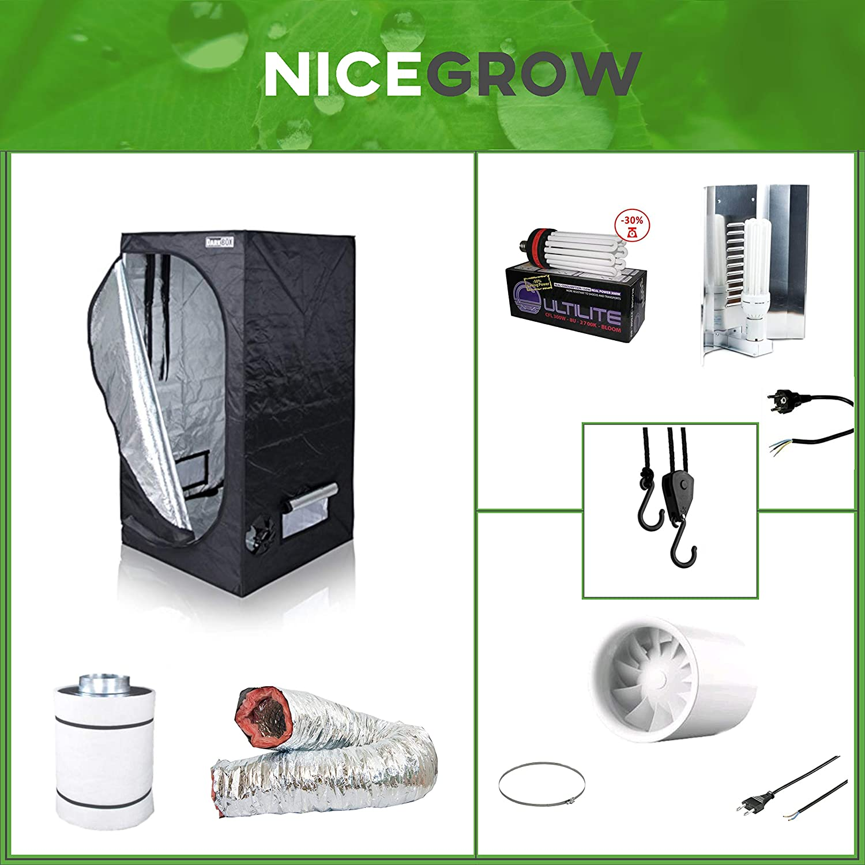 Growset Dark Box 100 Komplettset ESL Solux Wuchs 200W Solux Blüte 300W Grow