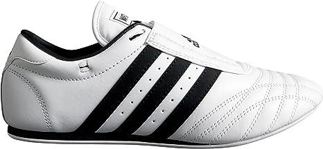 Adidas SM2 Zapatillas de taekwondo, piel, bandas negras, (blanco/negro), 38: Amazon.es: Deportes y aire libre