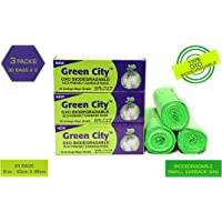 Green City OXO BIO-DEGRADABLE ECO-Friendly Garbage Bags Small | Disposable Dustbin Bags |