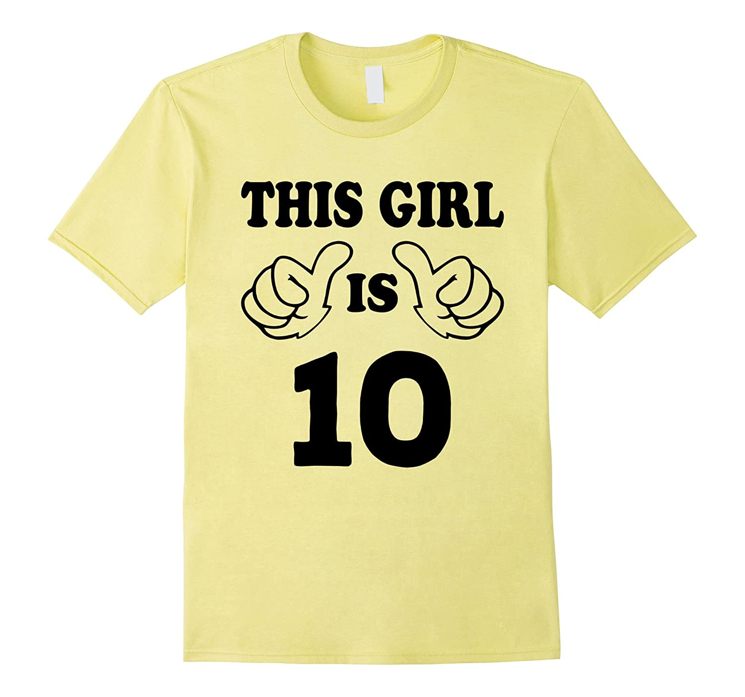 This Girl Is Ten 10 Years Old 10th Birthday Gift Ideas PL