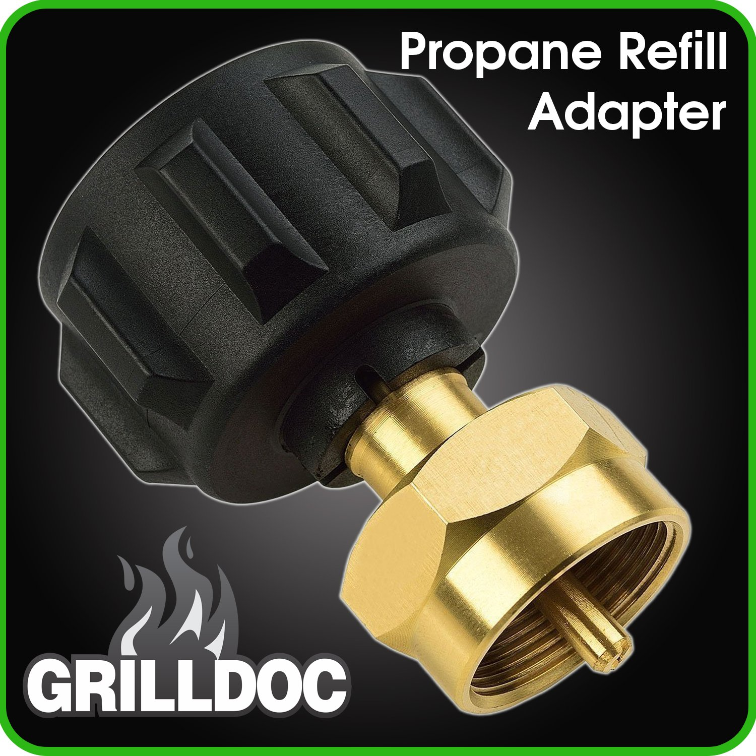 Propane Refill Adapter - Safest QCC1 Regulator Valve Propane Refill Adapter for Steel Propane Cylinder With Type 1 Onlyfire- Fits All 1 LB Throwaway Disposable Cylinder by Grill Doc bubblebagdude