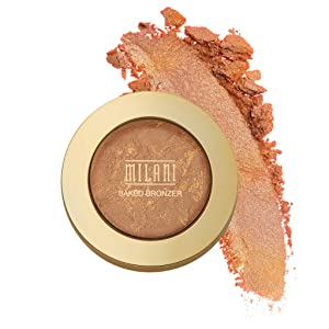 Milani Baked Bronzer - Soleil, Cruelty-Free Shimmer Bronzing Powder to Use For Contour Makeup, Highlighters Makeup, Bronzer Makeup, 0.25 Ounce