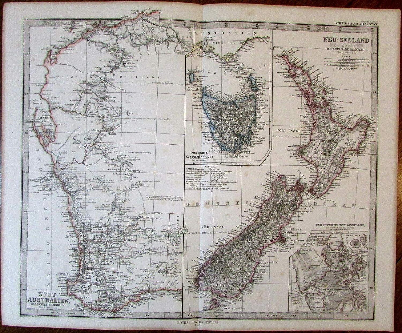 Map Of Australia New Zealand And Tasmania.Amazon Com West Coast Australia Tasmania New Zealand Auckland