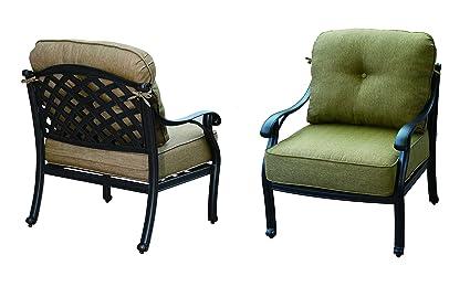 Amazon.com: darlee Nassau Club silla con asiento y respaldo ...