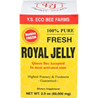 100% Pure Fresh Royal Jelly 60,000 mg YS Eco Bee Farms 2.0 oz Liquid