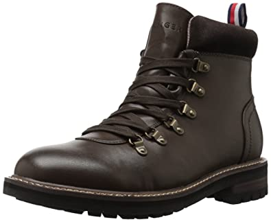 2011ae949 Tommy Hilfiger Men s HALEX Combat Boot Brown 7.5 Medium US