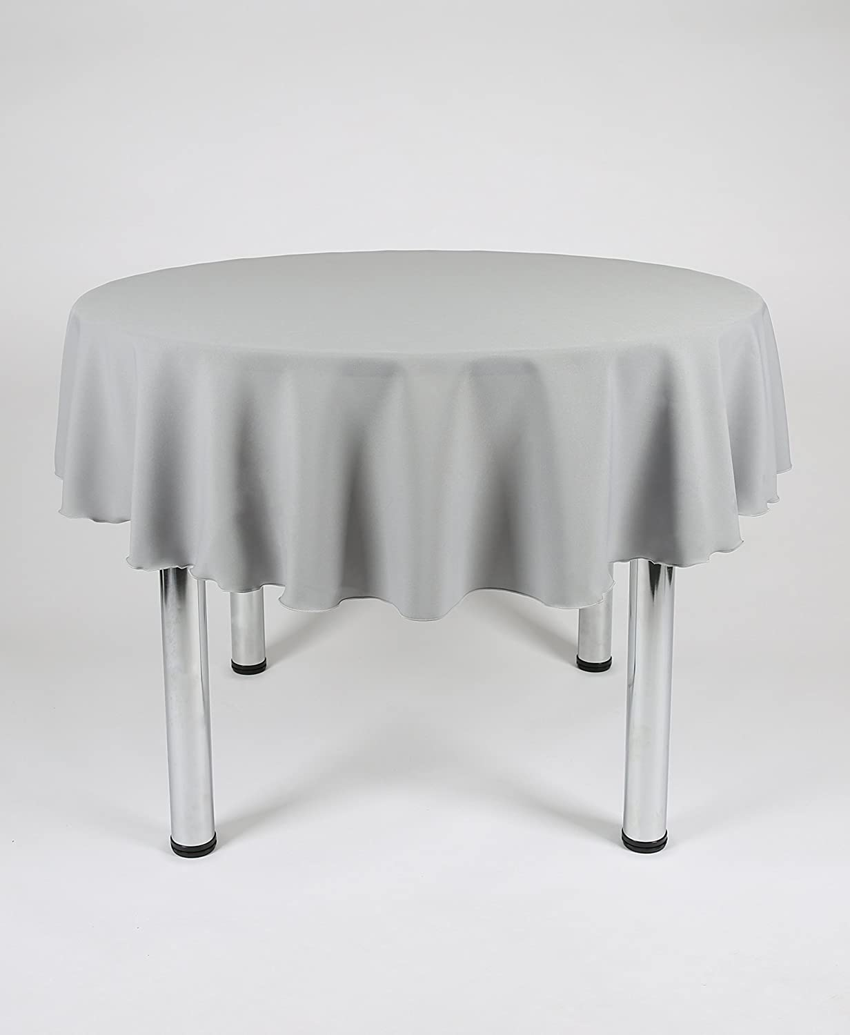 Round Kitchen Table Cloth 48 Diameter White Round Fabric Tablecloth Polyester Not Cotton