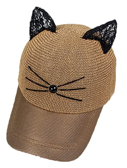 Coolwife Women s Sport Cap Baseball Golf Cat Ear Adjustable Hip Hop Sun Hat  (Khaki) at Amazon Women s Clothing store  bd733ef480e