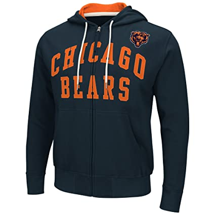 abe57bd7 Amazon.com : Chicago Bears Men's Long Sleeve Pass Attempt Hoodie ...