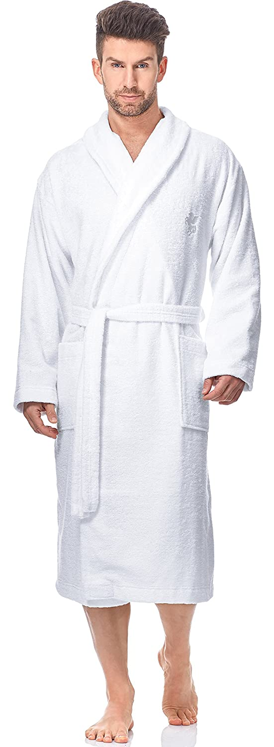 L& L Men's Bamboo Fibers Bathrobe LL0012