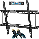 "Cheetah Mounts APTMM2B TV Wall Mount Bracket for 20-75"" TVs up to VESA 600 and 165lbs, Fits 16"" And 24"" Wall Studs, and…"