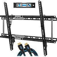 """Cheetah APTMM2B TV Wall Mount for 20-80"""" TVs (some up to 90"""") up to VESA 600 and 165lbs, and fits 16"""" And 24"""" Wall Studs, and includes a Tilt TV Bracket, a 10' Twisted Veins HDMI Cable and a 6"""" 3-Axis"""