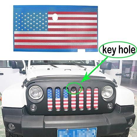 Amazon Com Moebulb American Flag Steel Front Grill Insert Mesh