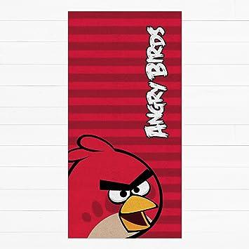 Serviette De Bain Angry Birds.Angry Birds Serviette De Plage Rouge Amazon Fr Cuisine