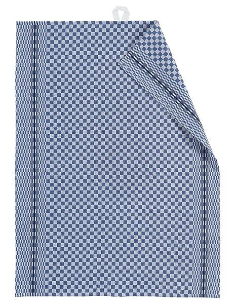50x Grubentücher Geschirrtücher Küchentücher Touchon 50x90 Blau Weiß Grubentuch
