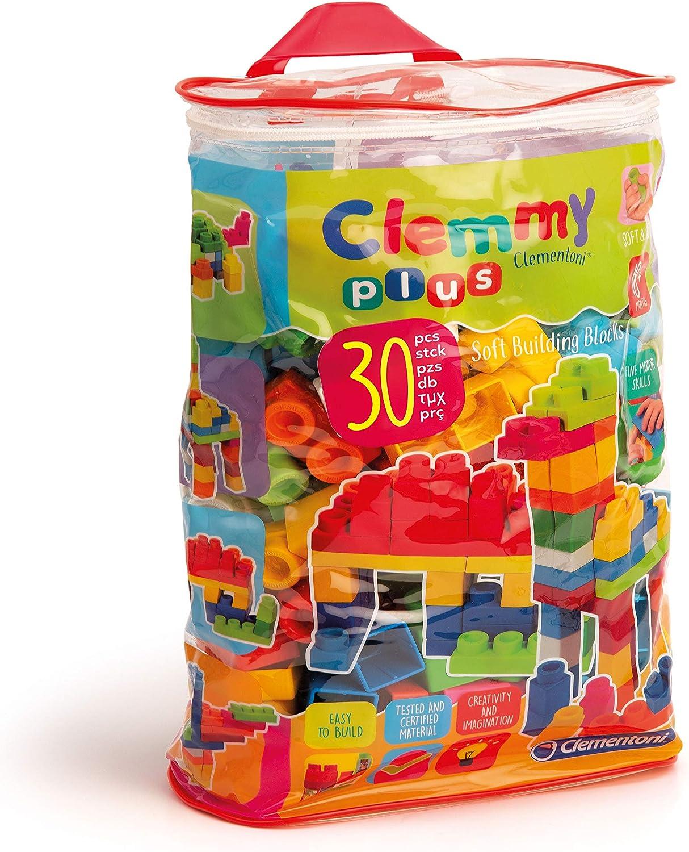 Clementoni - Clemmy Plus Bolsa con 30 Bloques (14879.0)