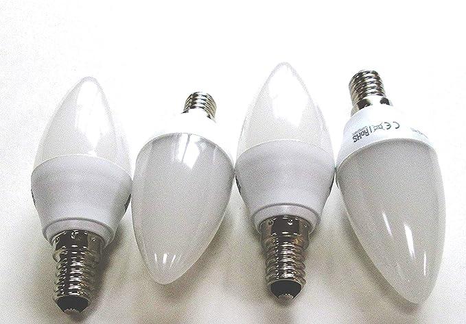 Bombilla LED Vela – E14 220 – 240 V, 3 W, 250LM, Opal