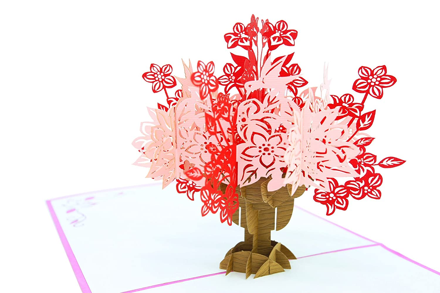 Anniversary Pop Up Valentines Card for Mom for Wife Sympathy Card PopLife Flower Bouquet 3D Pop Up Mothers Day Card for Daughter Happy Birthday for Teacher for Grandmother Gift for Her