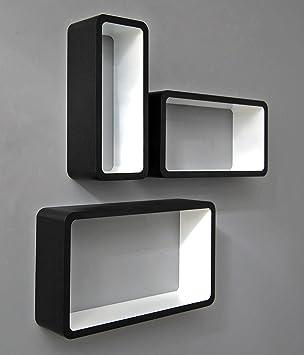 Hängeregal design  3er Set Lounge Cube Regal Design Retro 70er Wandregal Hängeregal ...