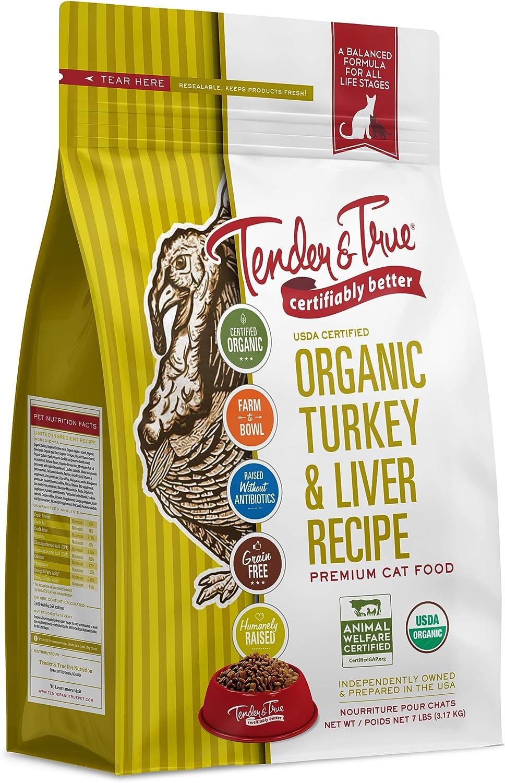 Tender & True Organic Turkey & Liver Recipe Cat Food, 7 lb