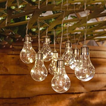 Outdoor Fairy Lighting Solalite 10 solar powered bulb string lights indoor outdoor fairy solalite 10 solar powered bulb string lights indoor outdoor fairy lights for garden home workwithnaturefo