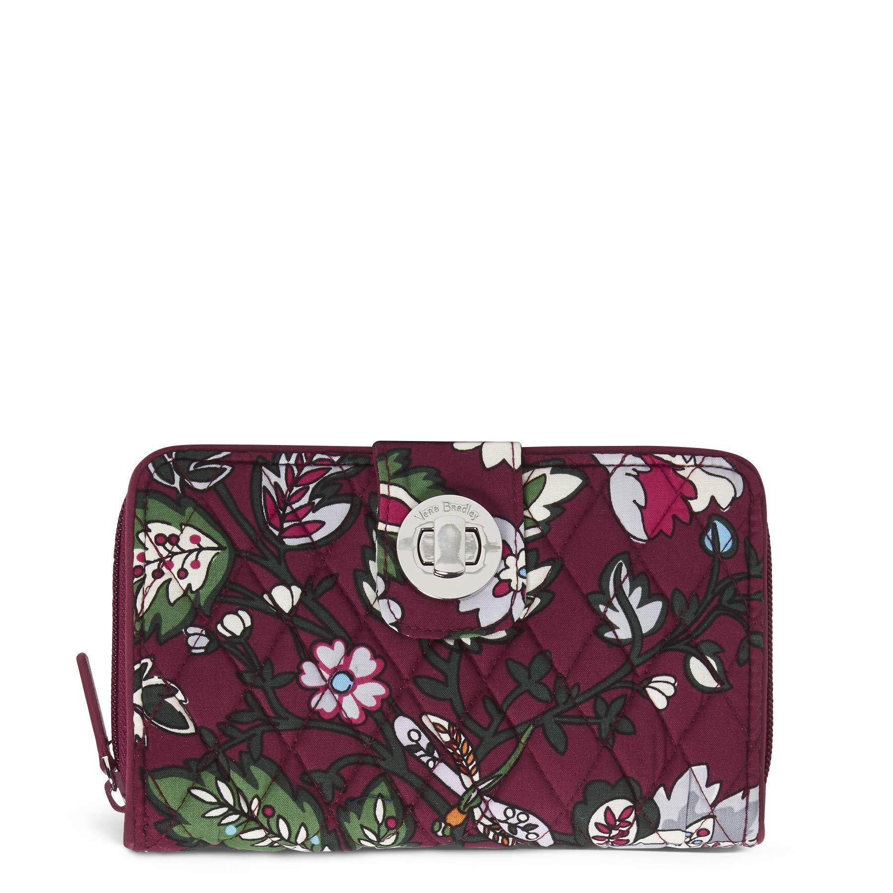 Vera Bradley RFID Turnlock Wallet,  Signature Cotton, One Size