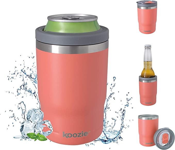 isolante sottovuoto Gaocunk per lattine e bevande analcoliche da 340 ml isolante in acciaio inox Contenitore di raffreddamento per lattine